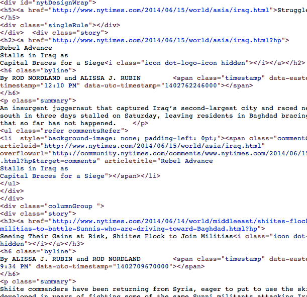 NYTimes source code