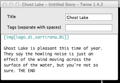 how to make a story in twine